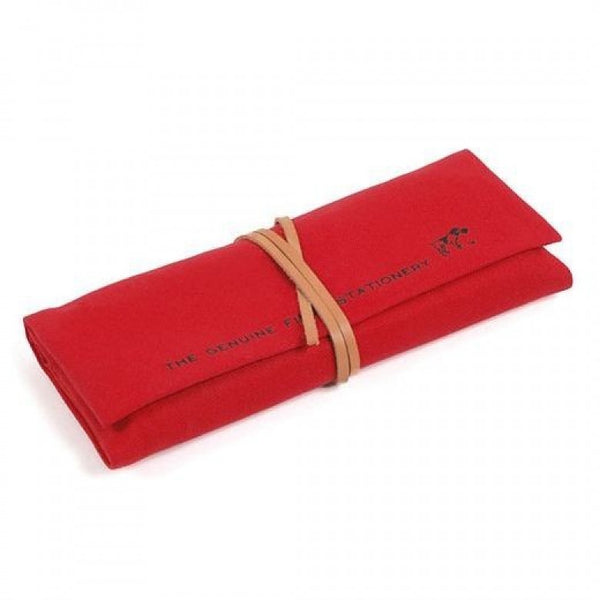 Hightide Field Roll Pen Case - Red - Burrows and Hare