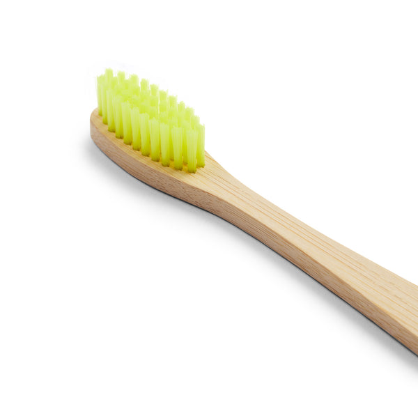 Bamboo Toothbrush - Yellow - Burrows and Hare