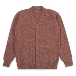V-neck Cardigan - Chestnut - Burrows and Hare