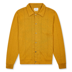 Oliver Spencer Rundell Jersey Cardigan - Arliss Ochre - Burrows and Hare