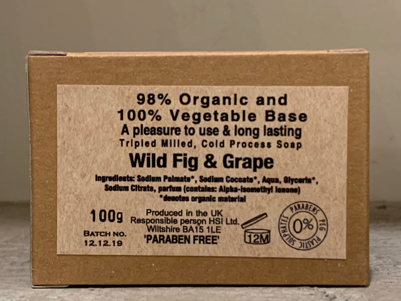 Burrows and Hare Soap - Wild Fig & Grape - Burrows and Hare
