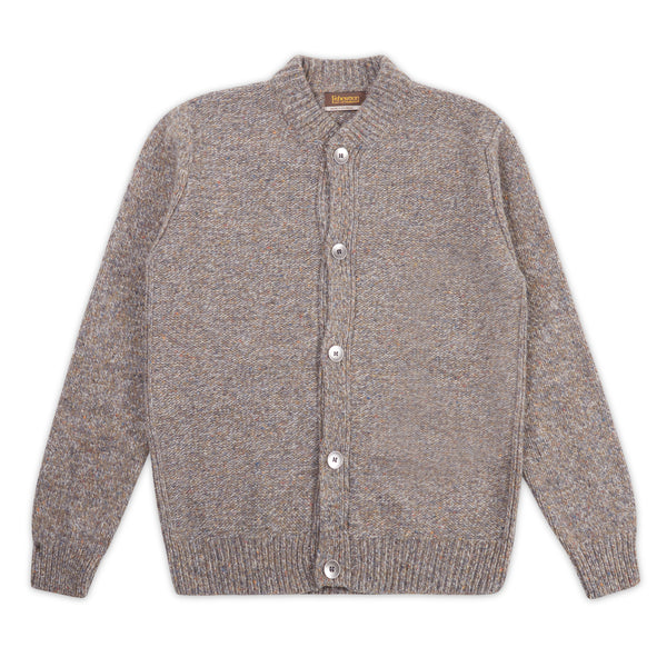 Baseball Collar Cardigan - Smoke - Burrows and Hare