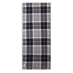 Burrows & Hare Cashmere & Merino Wool Scarf - Blue / Grey Tartan - Burrows and Hare