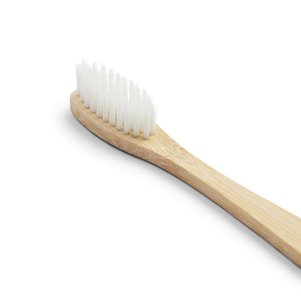 Bamboo Toothbrush - White - Burrows and Hare