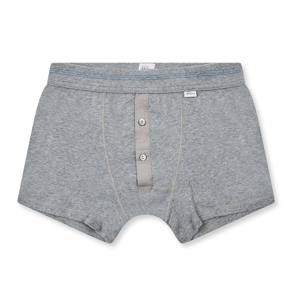 Schiesser-Karl Heinz Cotton Boxer Short - Grey - Burrows and Hare