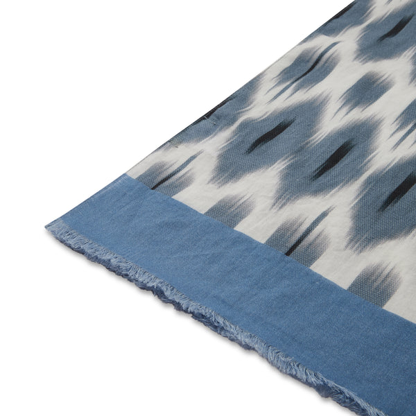 Hartford Scarf - Blue - Burrows and Hare