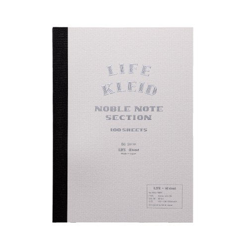 Life x Kleid Japan Japanese Noble Notebook B6 - white - Burrows and Hare