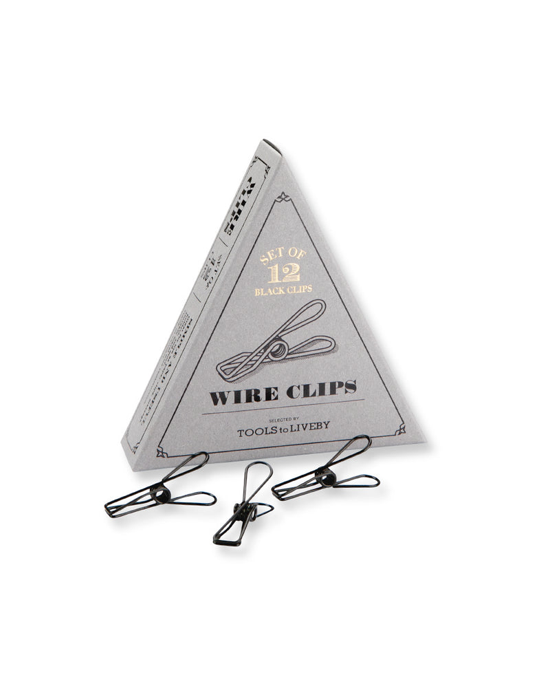 Tools to Liveby Black Wire Clips (Set of 12)