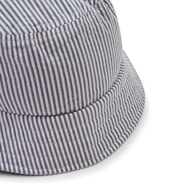 Hartford Bucket Hat - Stripe Blue - Burrows and Hare