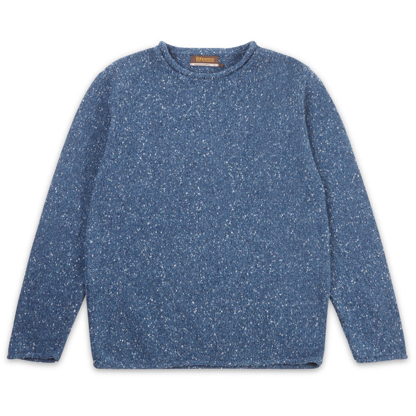 Roll Neck Sweater - Deep Sea - Burrows and Hare