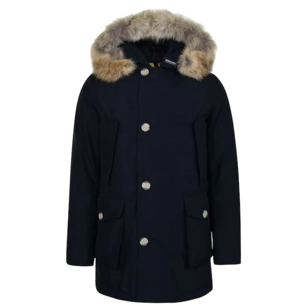 Woolrich Arctic Parka Fur - Melton Blue - Burrows and Hare