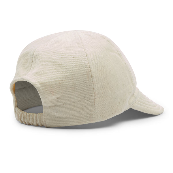 Kardo Quilted Peak Denim Cap - Natural - Burrows and Hare