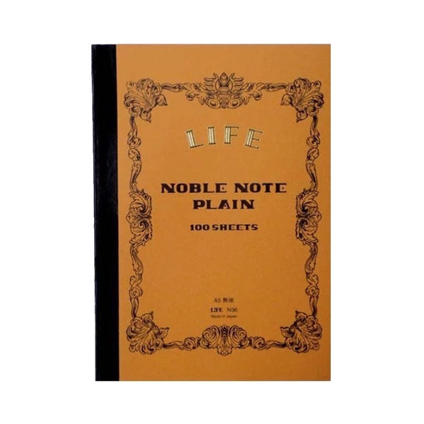 Life Japan Japanese Noble Notebook A5 - Plain - Burrows and Hare