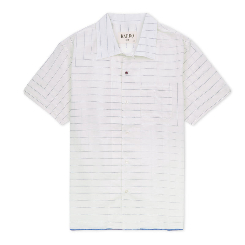 Kardo Chintan Shirt - White - Burrows and Hare