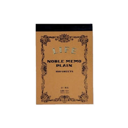 Life Japan Japanese Noble Memo Book B7 - plain - Burrows and Hare