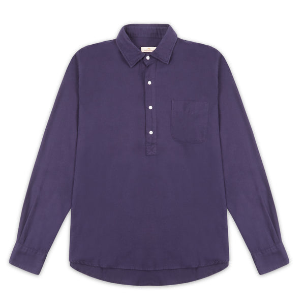 Burrows & Hare Pop Over Shirt - Navy - Burrows and Hare