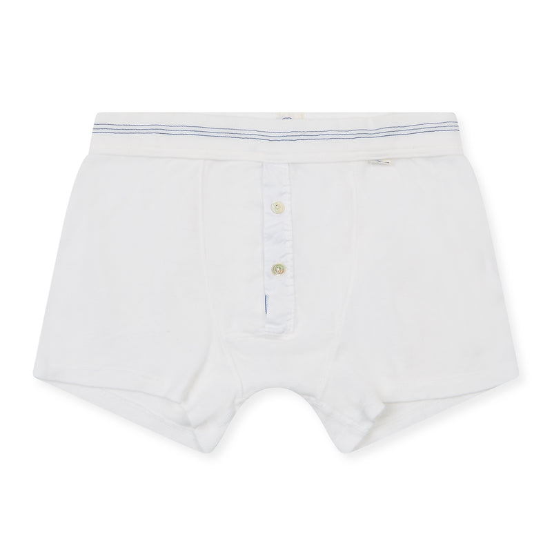 Schiesser-Karl Heinz Cotton Boxer Short - White - Burrows and Hare