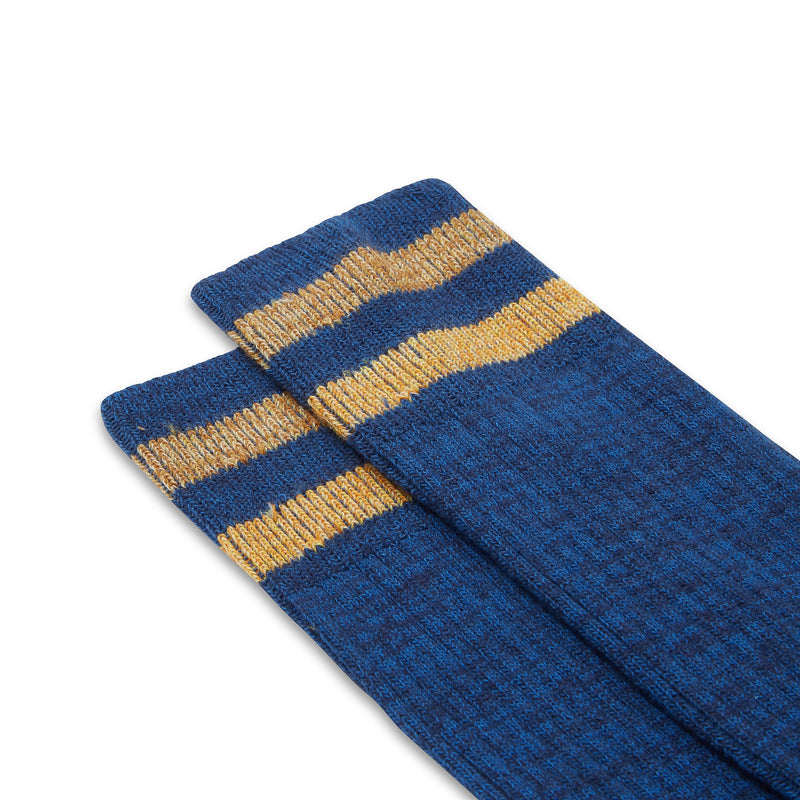 Burrows & Hare Varsity Sock - Blue - Burrows and Hare