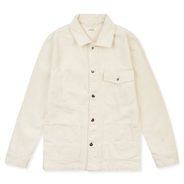 Hartford Denim Julian Jacket - Ecru - Burrows and Hare