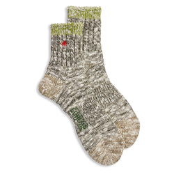Anonymous Ism Gohemp Slub Q Sock - Green - Burrows and Hare