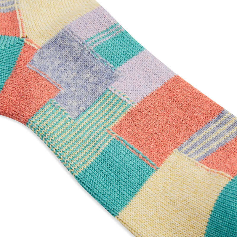 Anonymous Ism Patchwork Crew Sock - Mint - Burrows and Hare