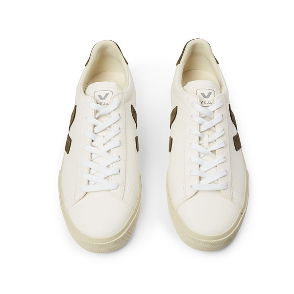 Veja Man Campo Chromefree Leather - White Khaki - Burrows and Hare