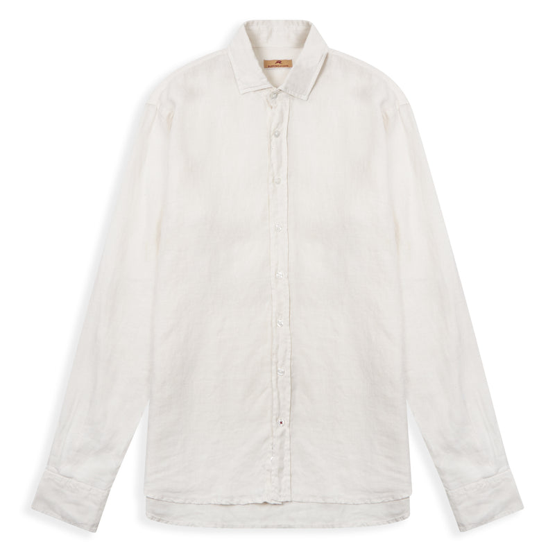 Burrows and Hare Linen Shirt - Ecru - Burrows and Hare