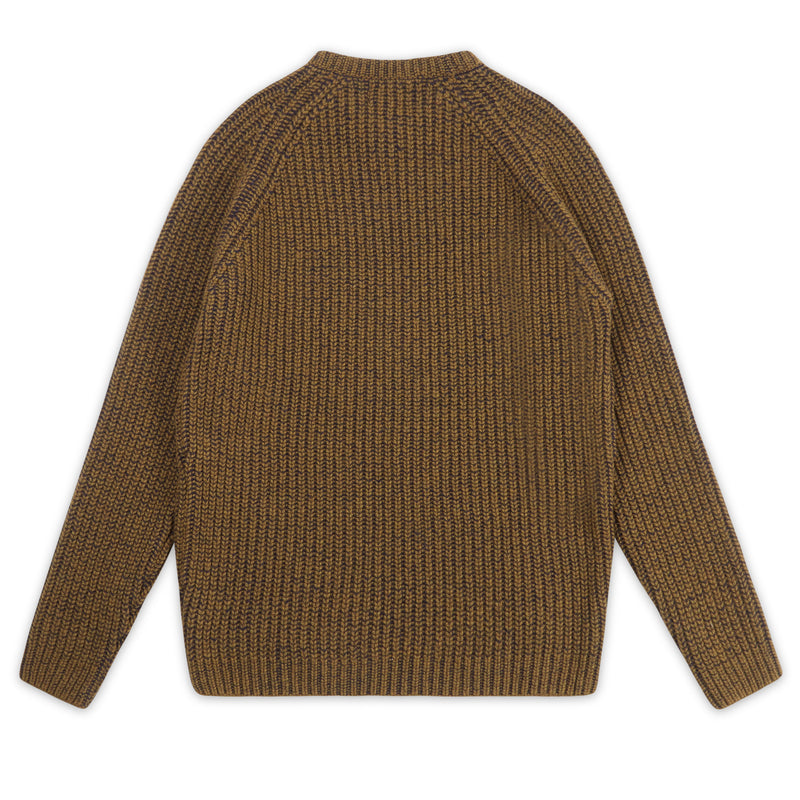 Rib Crew Neck - Olive - Burrows and Hare