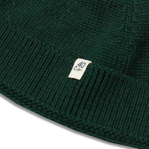 40 Colori Woollen Fisherman Beanie Hat - Green - Burrows and Hare