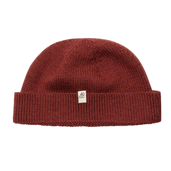 40 Colori Woollen Fisherman Beanie Hat - Rust - Burrows and Hare