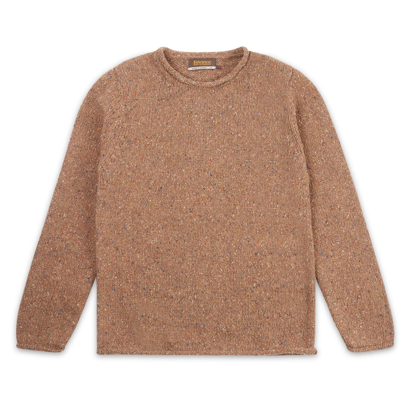 Roll Neck Sweater - Sandstone - Burrows and Hare