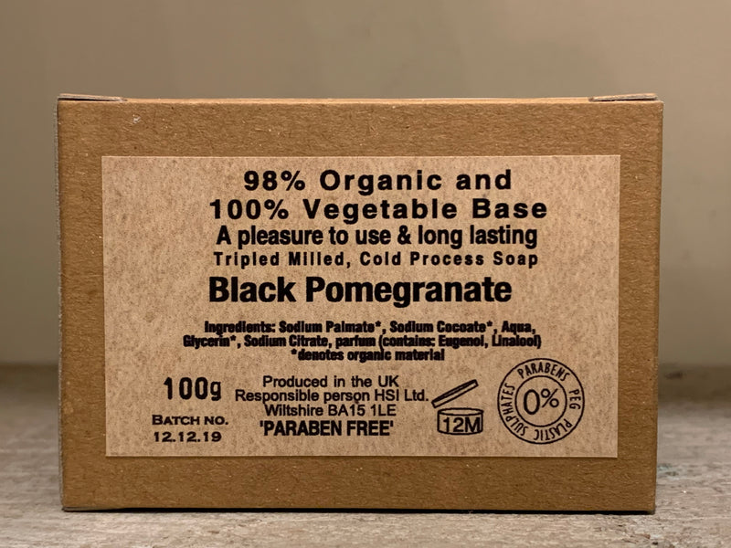 Burrows and Hare Soap - Black Pomegranate - Burrows and Hare