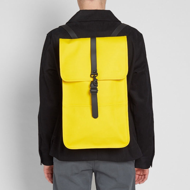 Rains Waterproof Mini Backpack - Yellow - Burrows and Hare