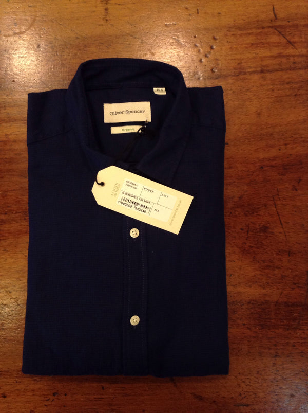 oliver spencer clerkenwell tab pippen navy - Burrows and Hare