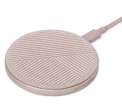 Native Union Drop Wireless Charger Pad Fabric Slate - Rose - Burrows and Hare