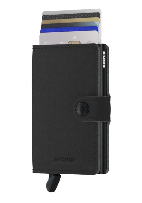 Secrid RFID Miniwallet  - Yard Black (NON LEATHER) - Burrows and Hare