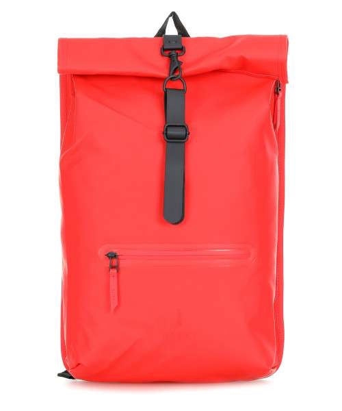 Rains Roll Top Rucksack - Red - Burrows and Hare