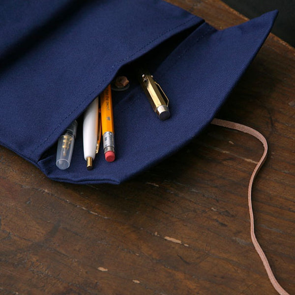 Hightide Field Roll Pencil Case -  Navy - Burrows and Hare