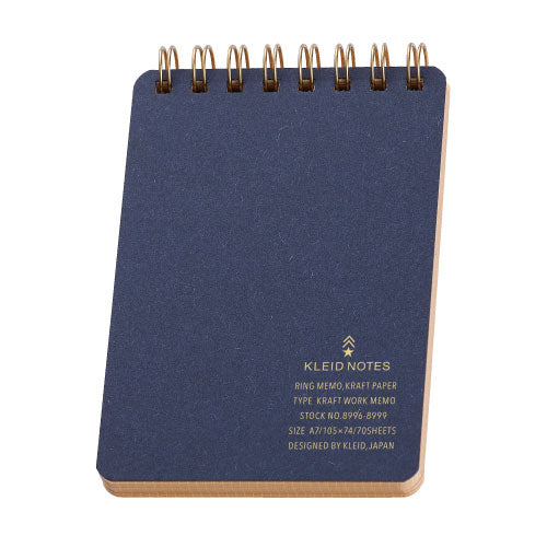Kleid Kraft Paper Ring Work Memo - Navy - Burrows and Hare