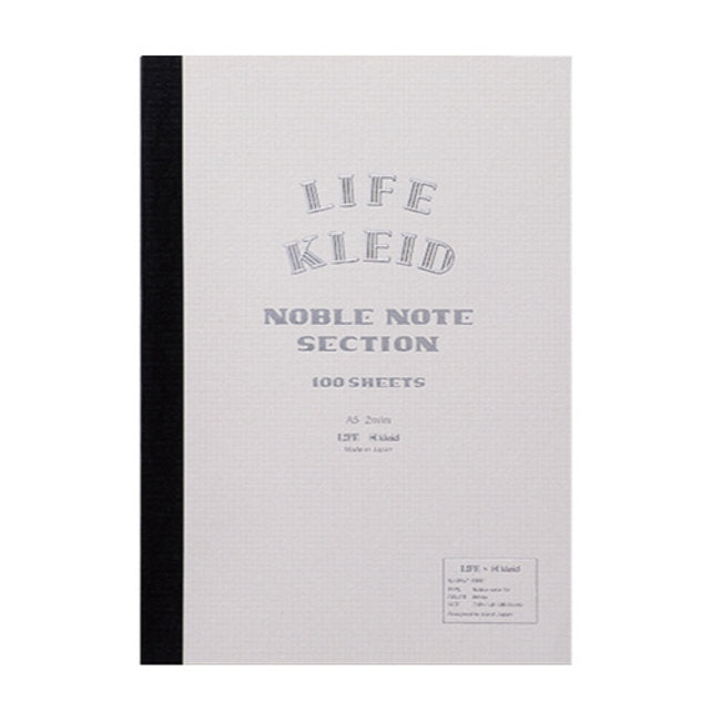 Life x Kleid Japan Japanese Noble Notebook A5 - White - Burrows and Hare