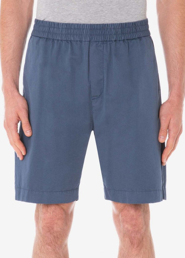 Sunspel Drawstring Short - Blue - Burrows and Hare