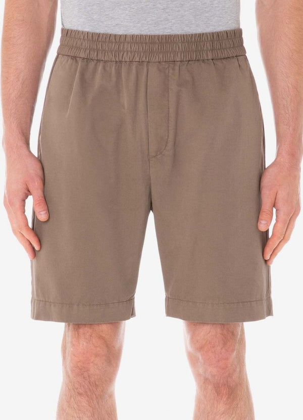 Sunspel Elasticated Drawstring Shorts - Dark Stone - Burrows and Hare