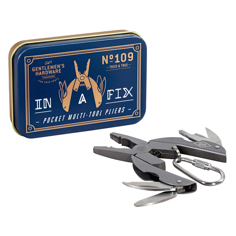 Gentlemans Hardware Multi Tool Pliers Titanium Finish - Burrows and Hare