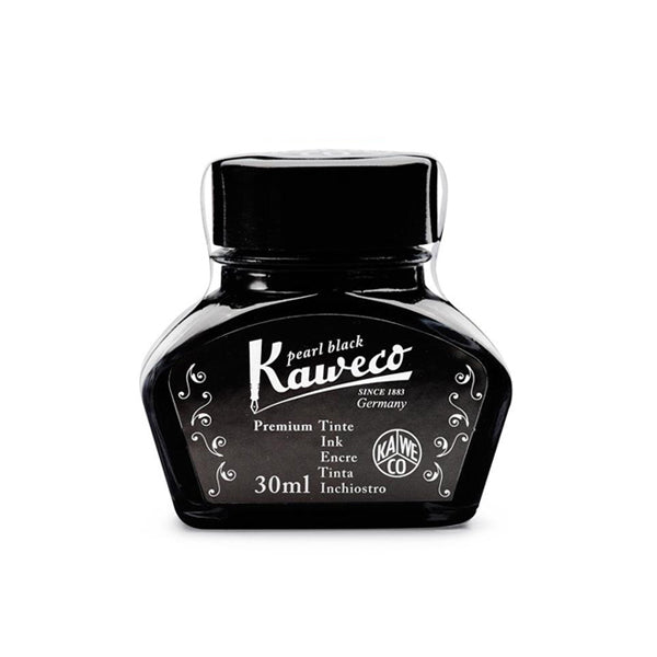 KAWECO INK BOTTLE 30ML - pearl black - Burrows and Hare