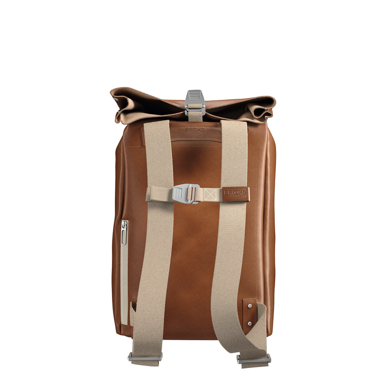 Brooks England Pickwick Leather Backpack 12/14L - Cognac - Burrows and Hare