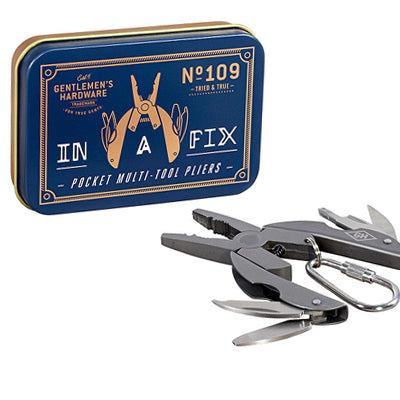 Gentlemen's Hardware Pocket Multi Tool Pliers Titanium Finish - Burrows and Hare