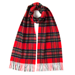 Burrows and Hare ROYAL STEWART TARTAN CLASSIC CASHMERE SCARF - red - Burrows and Hare