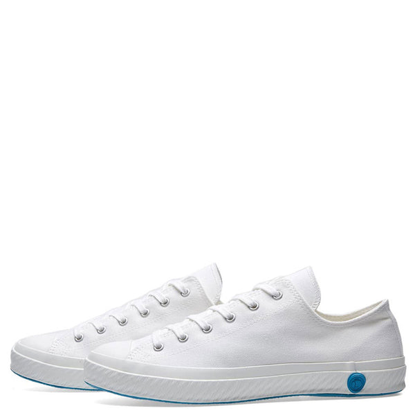 Shoes Like Pottery Handmade Japanese Pure White Low Canvas Trainer