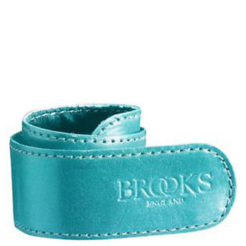 Brooks England Leather Trouser Strap - Blue - Burrows and Hare