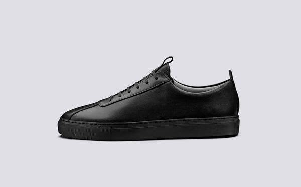 Grenson Sneaker 1 - Black/Black - Burrows and Hare
